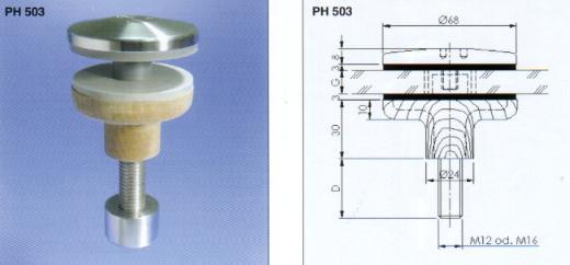 Glas Befestigung fn glas punkthalter aus holz